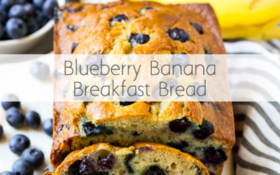 Blueberry Banana Breakfast Bread