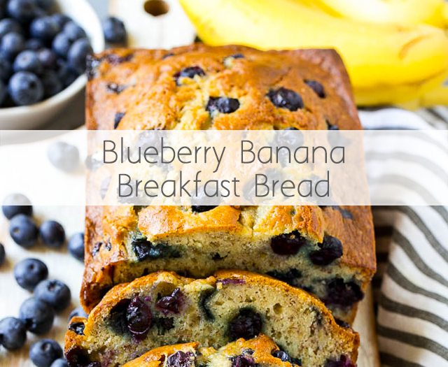 Blueberry Banana Breakfast Bread