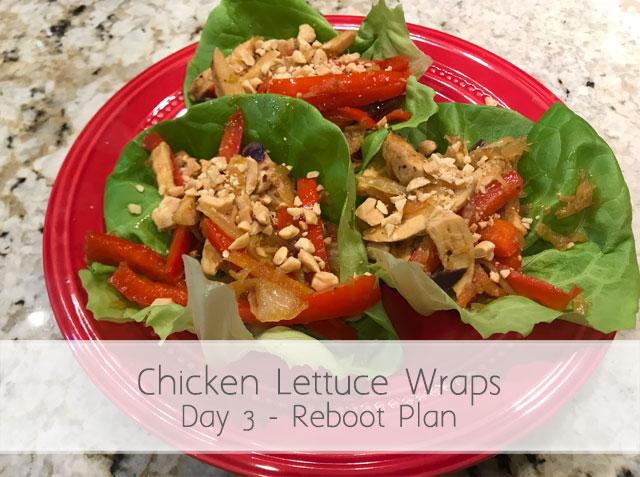 Reboot Day 3 – Chicken Lettuce Wraps