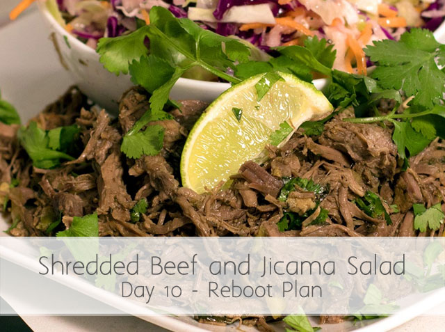 Shredded Beef and Jicama Salad – Day 10