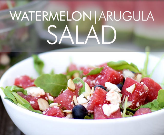 Refreshing Watermelon Arugula Salad