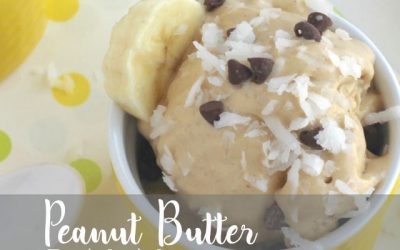 Peanut Butter Banana ICE CREAM!